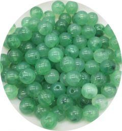 Acryl kralen 8mm, imitatie groene jade kralen, per 48-50 st.