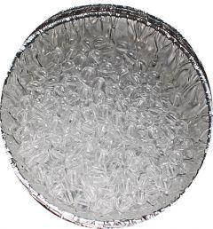 Acryl transparant ronde kraal 6mm. Per 50 stuks.