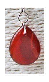 Hanger Agaat druppel rood-bruin