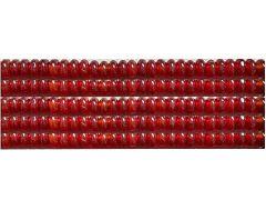 Kraal Agaat rood rondel 8x5mm, per 10 stuks.