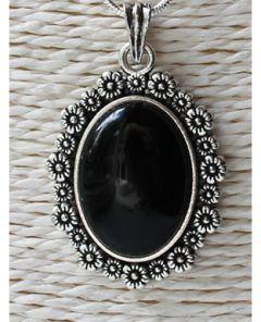 Hanger Agaat zwart 35x25mm