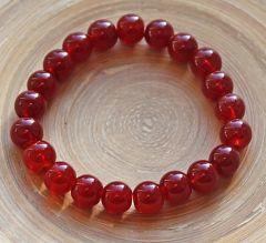 Armband Agaat rood  8-9mm kralen (17-19cm)