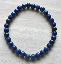 Armband Lapis Lazuli 5-6mm kralen, 18cm.