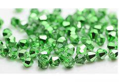 Bicone donker grasgroene kristal kraal 4mm, 45-50 st.