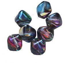 Bicone Crystal magic blue 6mm. Per 25 stuks.