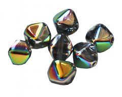 Bicone Crystal full vitrail 6mm. Per 25 stuks.