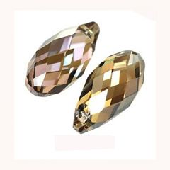 Swarovski kristal briolette Crystal bronze shade 13x6,5mm. Per stuk.