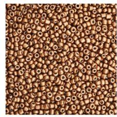 Rocailles 12/0 brons-bruin, per 10 gram.