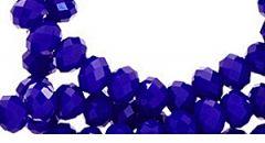 Kralen donkerblauw, facetgeslepen rond  6mm. Zakje van 50 stuks
