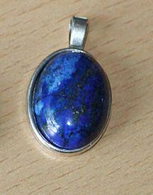 Hanger Lapis Lazuli ovaal, 25x20mm