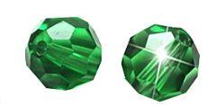 Glaskraal facetgeslepen AAA kwaliteit 6mm Erinite groen. Per stuk.