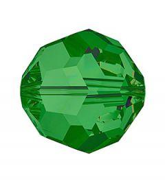 Glaskraal facetgeslepen AAA kwaliteit 8mm helder Groen. Per stuk.