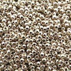 Rocailles 8/0 Miyuki Galvanized zilver, 10 gram.