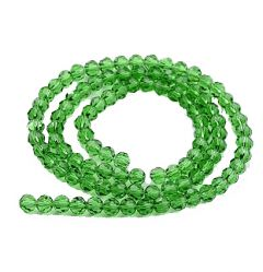Zakje facetgeslepen groene 4mm glaskralen, 72-75 kralen.