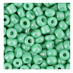 Rocailles 6/0 helder groen opaque, per 10 gram