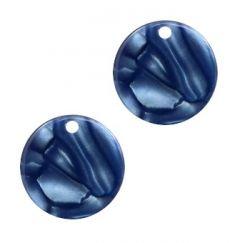 Oorbel hangers blauw klein 12mm. Per 2 stuks.