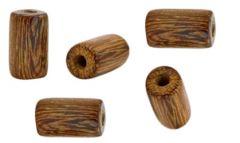 Half snoer houten tube kralen 10x4mm.