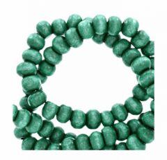 Kraal hout Alhambra groen 8mm. Per 100 stuks.
