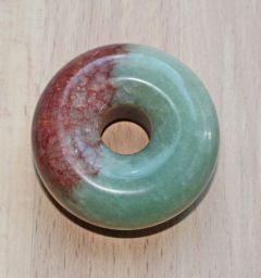 Kraal - Siersteen of Presse Papier Jade rood-groene donut