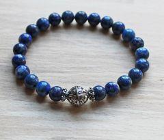 Armband Lapis Lazuli natuurlijke kralen 8mm