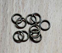 Buig ring bronskleurig 6mm, per 40 stuks.