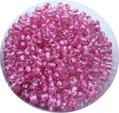 Rocailles roze inside 6/0, 10 gram