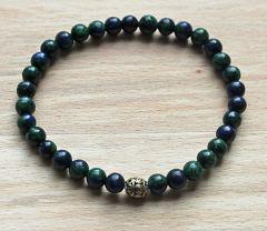 Armband Lapis lazuli - Chrysocolla 6mm.