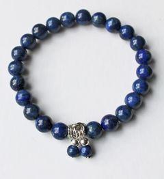 Armband Lapis Lazuli 8mm kralen, natuurlijk