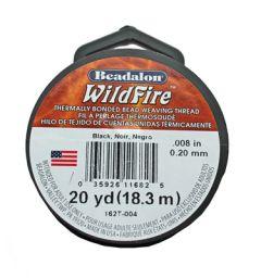Draad Beadalon Wildfire zwart, 0.20mm
