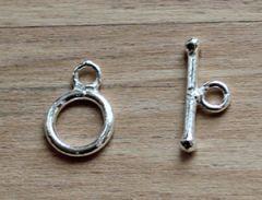 Kapittel slotje sterling zilver, 12.5x9x1.5mm