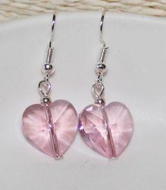 Oorbellen roze hartjes