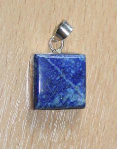 Hanger Lapis Lazuli vierkant, 22x22mm