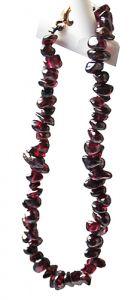 Armband splitkralen Agaat wijnrood 18cm.