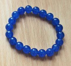 Armband Jade blauw 10mm kralen.
