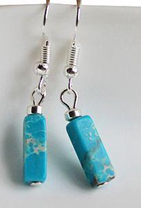 Oorbellen Imperial Jaspis blauw met zilver hematiet kraaltje