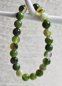 Armband groene Agaatkralen 8mm