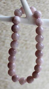 Armband Agaat 8mm rozig grijze kleur