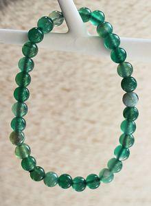 Armband Agaat groen 6mm kralen