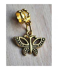 Hanger Vlinder goudkleurig aan hangeroog