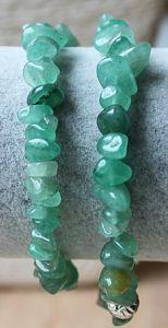 Armband groene Aventurijn  splitkralen 18-20cm