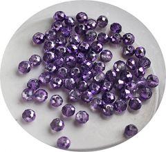 Zakje facetgeslepen lilakleurige glaskralen 4mm, 95-100 st.