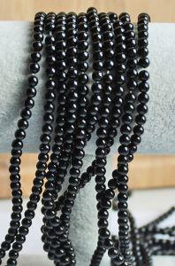 Snoer agaat zwart 4mm