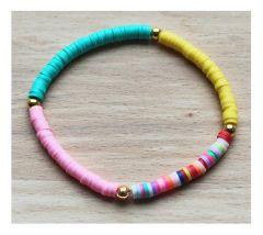 Armbandje Katsuki 4mm kraaltjes in verschillende kleuren, 16cm