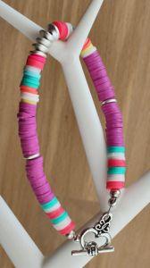 Armband Katsuki kralen 6mm multi kleur met kapittel sluiting