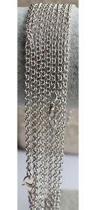 Ketting DQ silverplated Jasseron schakels 2,5mm, 50cm