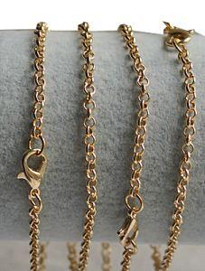 Armband DQ goldplated jasseron schakels 2,5mm 19cm