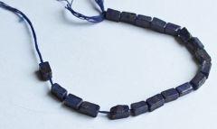 Lapis Lazuli rechthoekige kraal 10x4 - 5x4mm. Per 5 stuks.