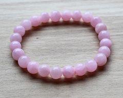 Armband roze 8mm opaliet kralen