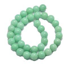 Snoer Jade 10mm in een amazoniet groene kleur