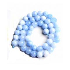 Snoer Jade zacht blauw 6mm.